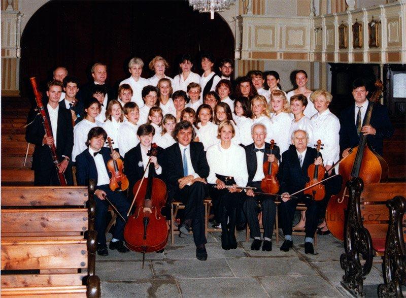 Snímky z natáčení CD ve Šluknově 1994