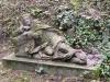 soubor pískovcových soch ležících apoštolů sv. Petra, Jakuba a Jana v Getsemanské zahradě