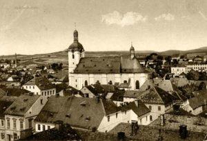 pohled na kostel sv. Václava