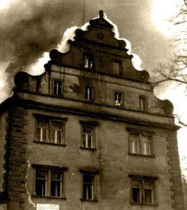 Požár zámku v roce 1986