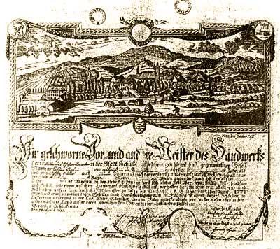 Nejstarší vyobrazení města Šluknova